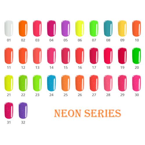 Gel Neon 10 Medium Orange Base One Silcare  SILCARE