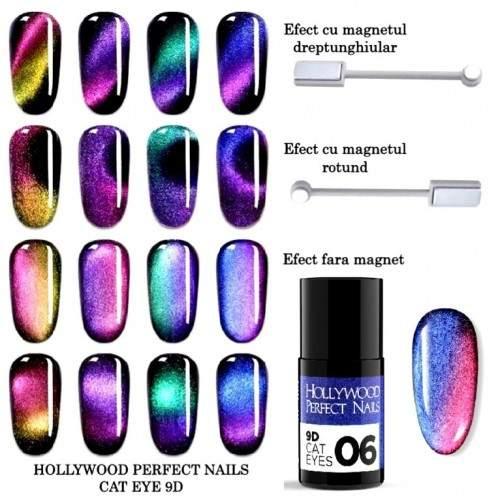 Sabloane Unghii 500 buc Potcoava Gold U2-3 HOLLYWOOD PERFECT NAILS