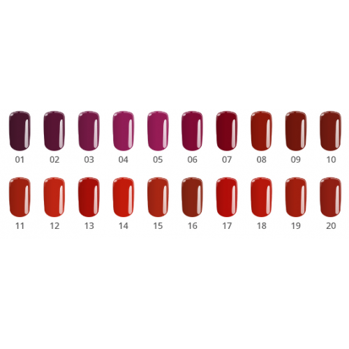 Red Gel 02 Candy Cranberry Base One Silcare  SILCARE
