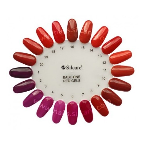 Red Gel 12 Red Hot Base One Silcare  SILCARE