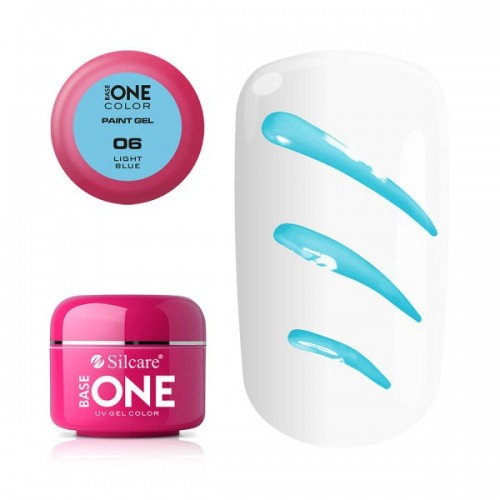 Paint Gel 03 Medium Pink Base One Silcare  SILCARE