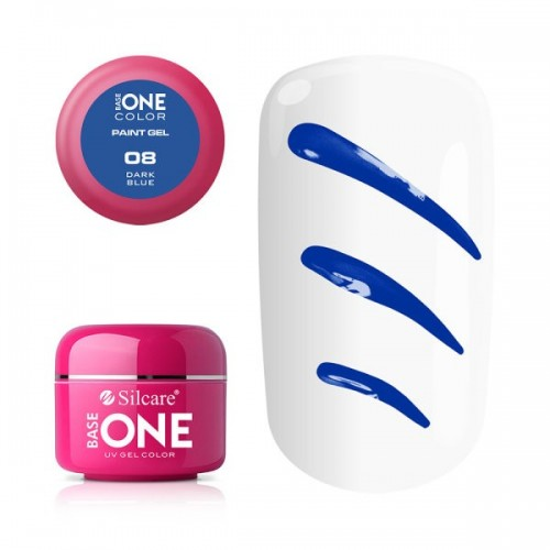 Paint Gel 05 Dark Violet Base One Silcare  SILCARE