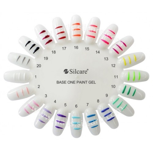 Paint Gel 12 Yellow Base One Silcare  SILCARE