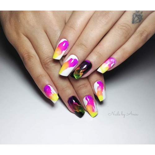 SUPER COLOR 20 BLUE INKY GEL UNGHII HOLLYWOOD HOLLYWOOD PERFECT NAILS