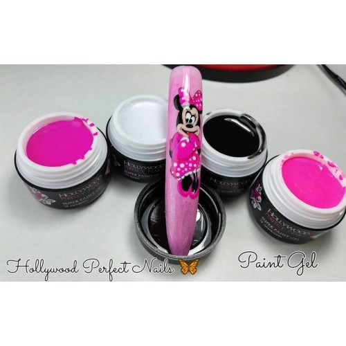 Super Pigment 07 Red Pink Gel Unghii HPN  HOLLYWOOD PERFECT NAILS