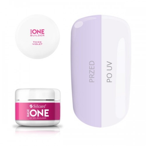 Clear Strawberry Gel Unghii Base One Silcare  SILCARE