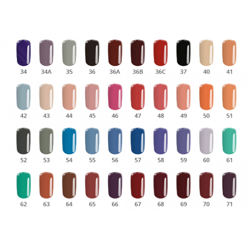 Gel Base One 68 Cosmic Red Color Silcare  SILCARE