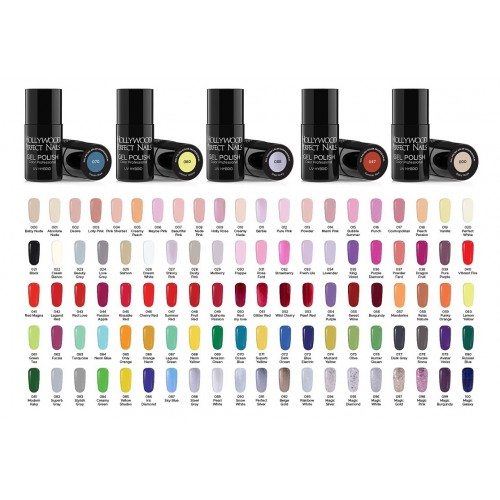 Set 15 Pensule Profesionale NBS15 HOLLYWOOD PERFECT NAILS