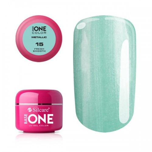 Gel Metallic 06 Turquoise Base One Silcare  SILCARE