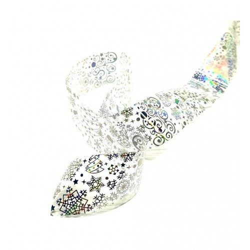 Decoratiuni Unghii Mix Albe cu Reflexii Set 12 G1206 HOLLYWOOD PERFECT NAILS